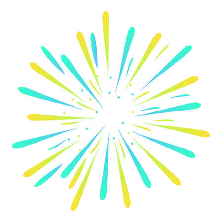 Happy party firework icon, cartoon style