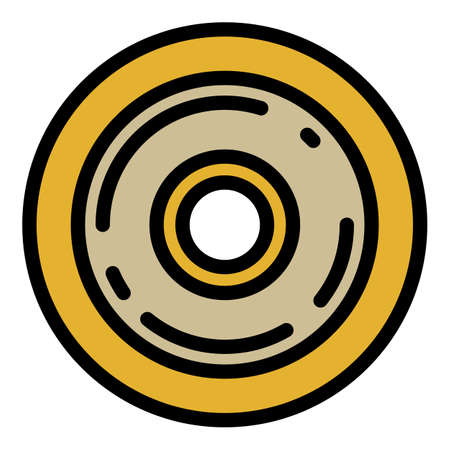 Plastic skateboard wheel icon, outline style