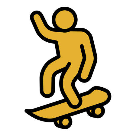 Ramp skateboard icon, outline style