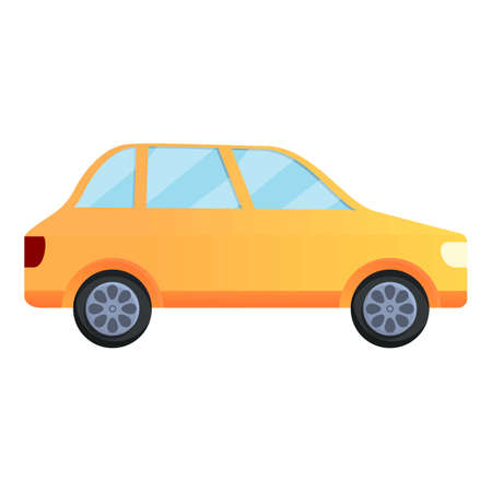 Father car icon, cartoon style