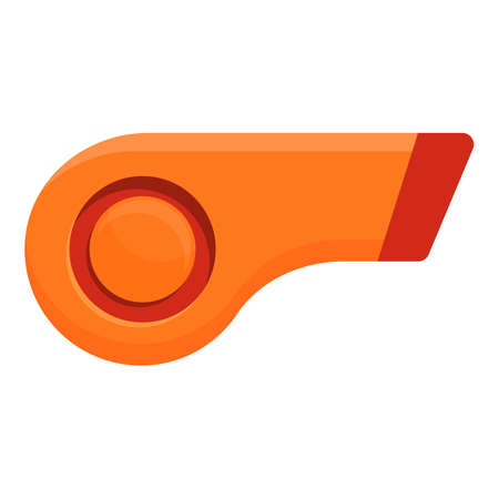 Sport whistle icon, cartoon style