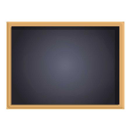 School chalkboard icon, cartoon style