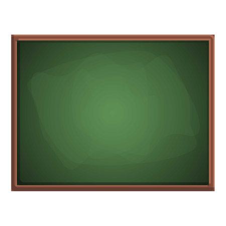 University chalkboard icon, cartoon style Ilustracja