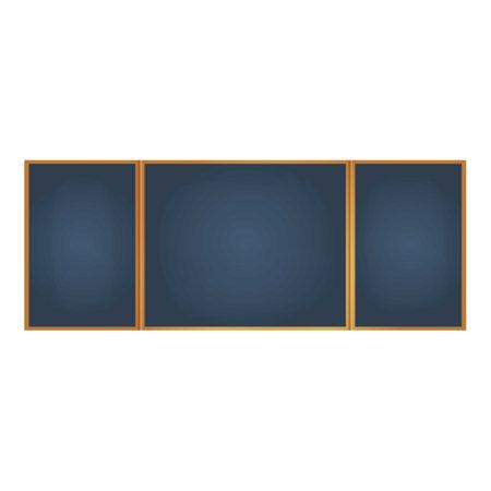 Wide chalkboard icon, cartoon style