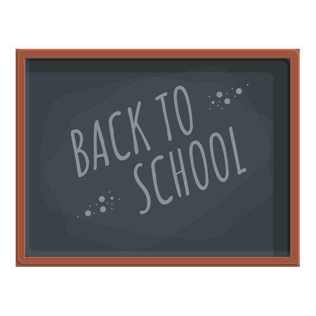 Texture chalkboard icon, cartoon style