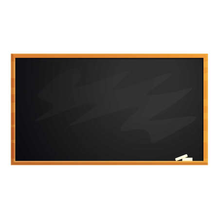 Empty chalkboard icon, cartoon style