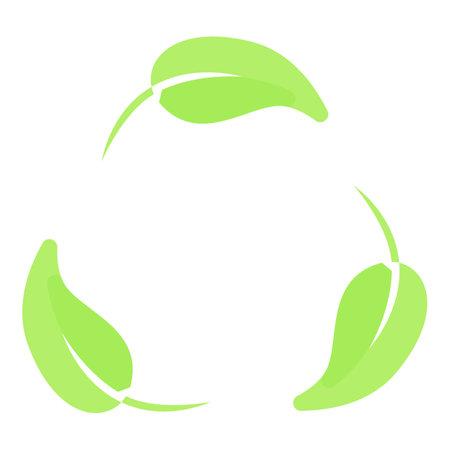 Biodegradable plastic eco icon, cartoon style