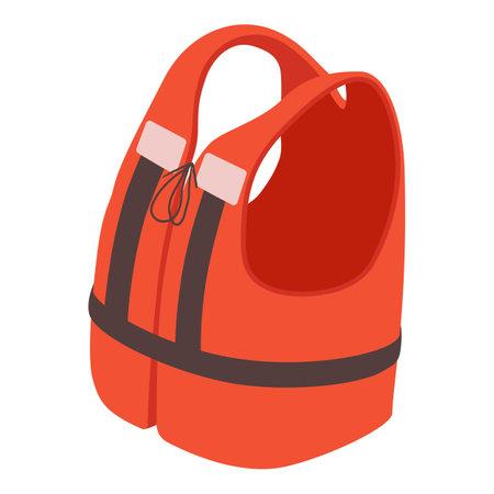 Life jacket icon, isometric style
