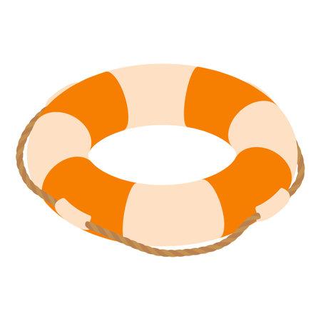 Ring buoy icon, isometric style