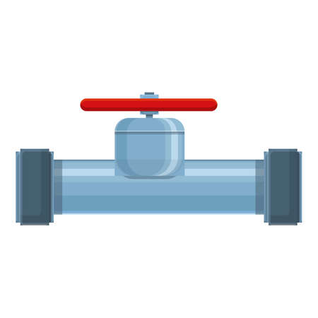 Manufacture pipe icon, cartoon style