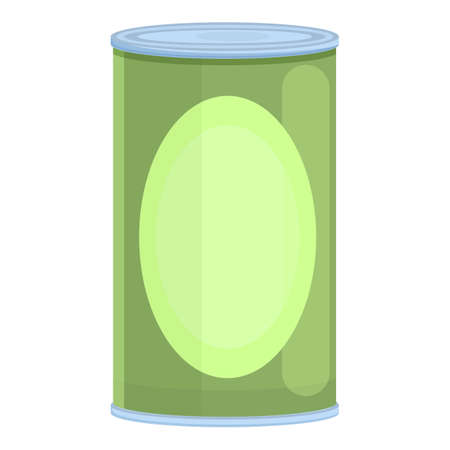Canned food icon, cartoon style