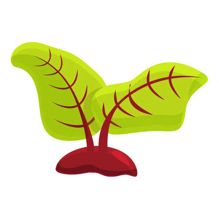 Beetroot waste icon, cartoon style