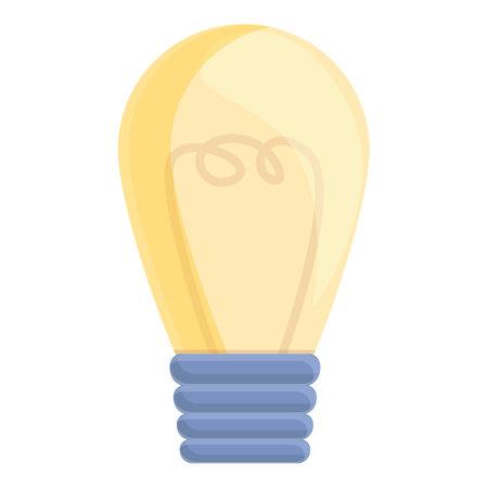 Bulb waste icon, cartoon style