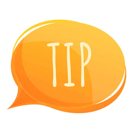 Effective tips icon, cartoon style