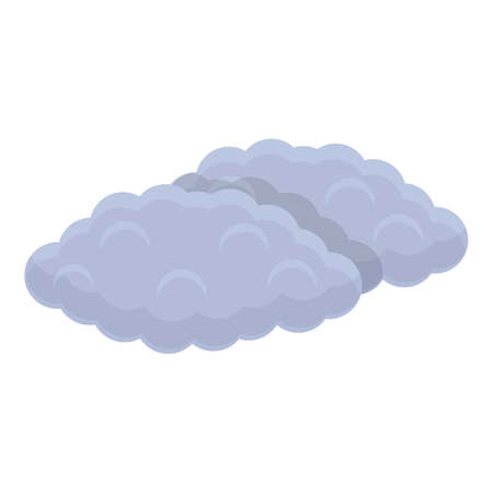 Clouds icon, cartoon style Ilustracja