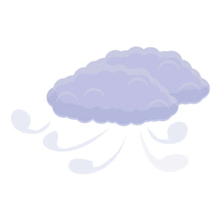 Windy clouds icon, cartoon style