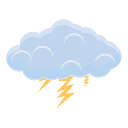 Thundercloud icon, cartoon style Ilustracja