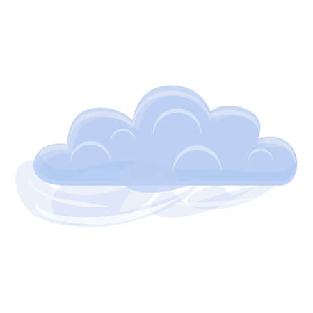 Weather cloud icon, cartoon style