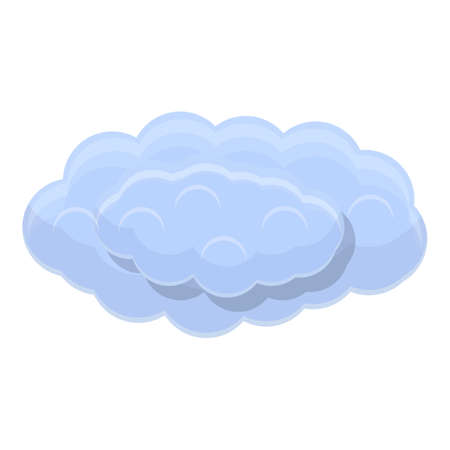 Autumn clouds icon, cartoon style