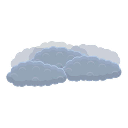 Storm clouds icon, cartoon style Ilustracja
