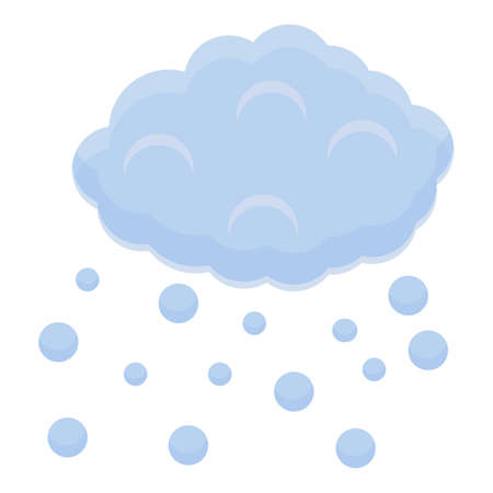 Rainy cloud icon, cartoon style