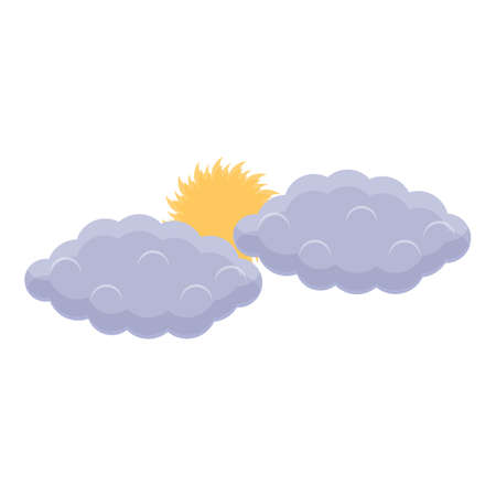 Summer clouds icon, cartoon style Ilustracja