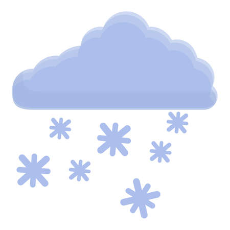 Winter cloud icon, cartoon style