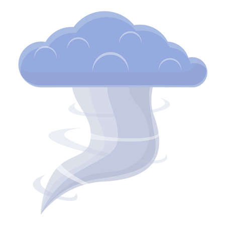 Storm bad weather icon, cartoon style