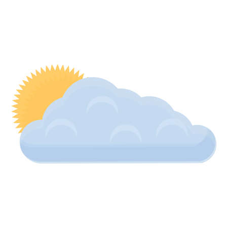 Spring cloud icon, cartoon style