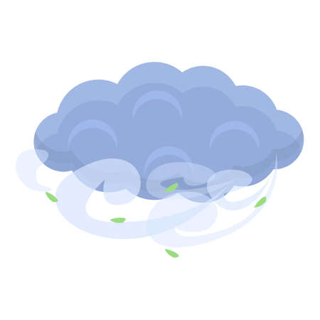 Season clouds icon, cartoon style