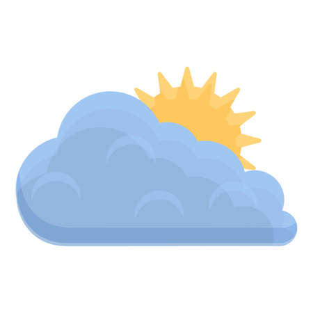 Sky clouds icon, cartoon style Ilustracja
