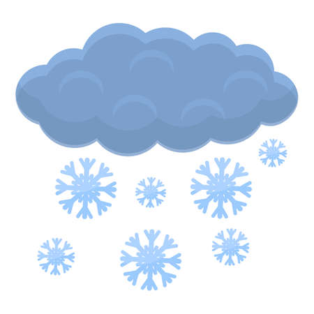 Snow winter cloud icon, cartoon style