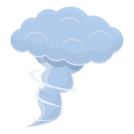 Tornado cloud icon, cartoon style Ilustracja