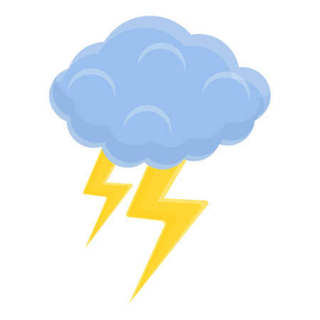 Flash cloud icon, cartoon style