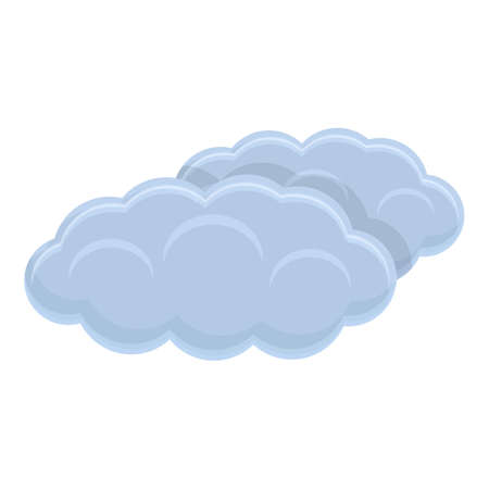 Climate clouds icon, cartoon style