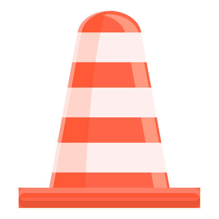 Road cone icon, cartoon style Ilustração Vetorial