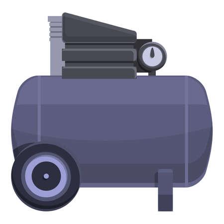 Airbrush compressor icon, cartoon style