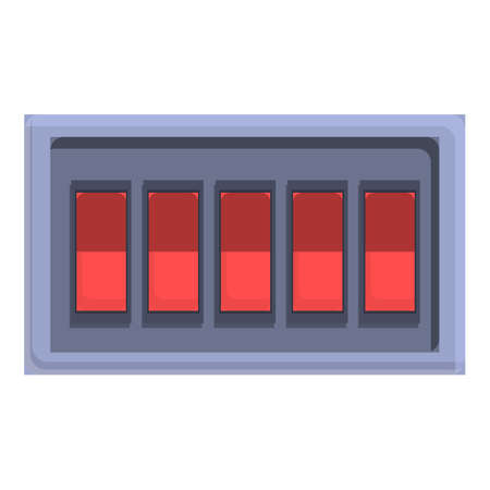 Construction breaker switch icon, cartoon style
