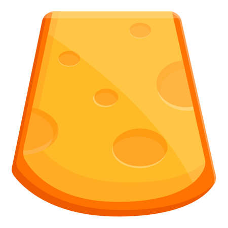 Dairy cheese icon, cartoon style Vectores