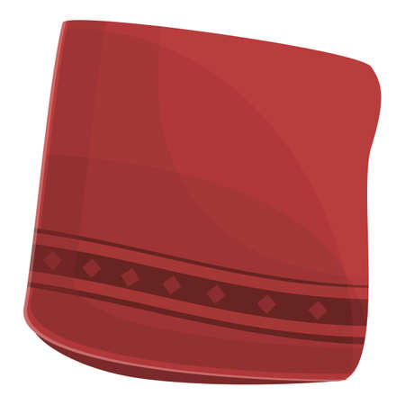 Red handkerchief icon, cartoon style Vektorgrafik
