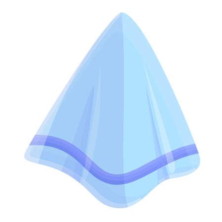 Textile handkerchief icon, cartoon style Vector Illustration