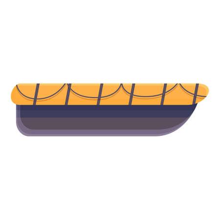 Vessel rescue boat icon, cartoon style