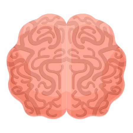Human brain cerebellum icon, cartoon style