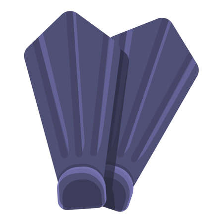 Flippers for swimming pool icon, cartoon style
