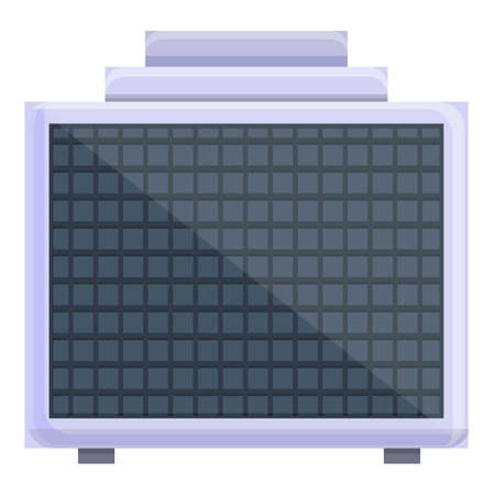 Air filter for pool icon, cartoon style