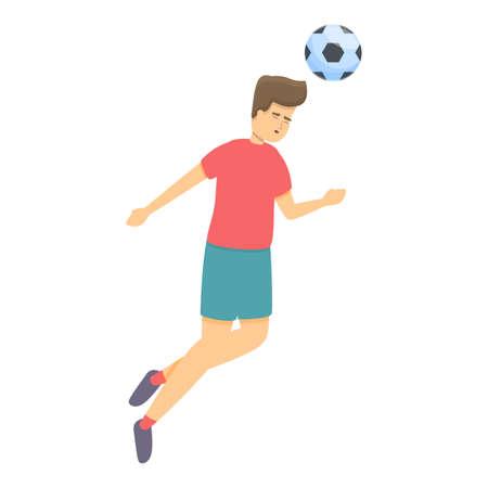 Modern head play soccer icon, cartoon style Illusztráció