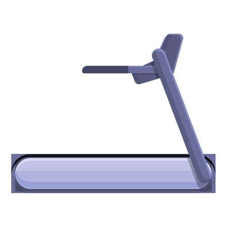 Treadmill icon, cartoon style