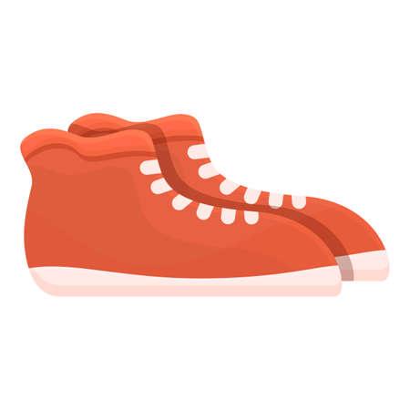 Sport shoes icon, cartoon style Illusztráció