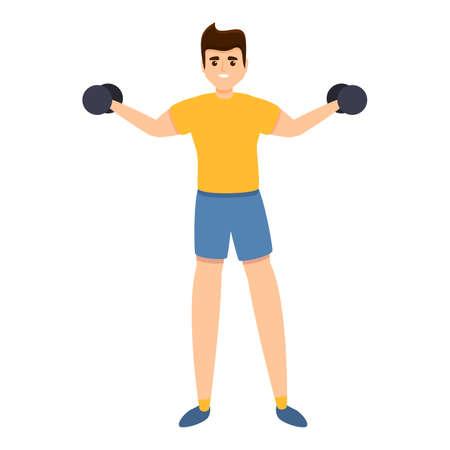 Morning physical activity icon, cartoon style Illusztráció