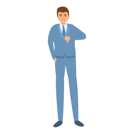 Dislike businessman icon, cartoon style